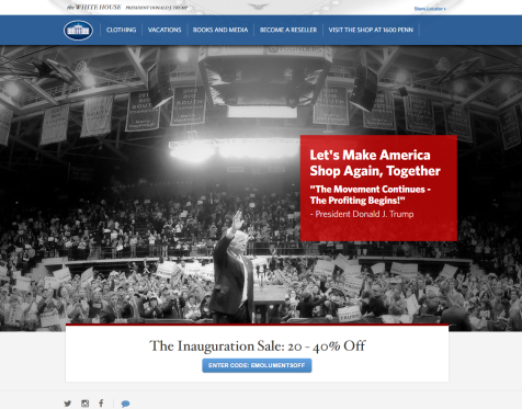 WhiteHouse.gov E-commerce site